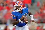 Florida Gators quarterback Treon Harris during the second half as the Gators spook the Georgia Bulldogs with a 27-3 win at EverBank Field.  October 31st, 2015. Gator Country photo by David Bowie.
