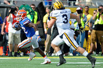 Florida Gators running back Jordan Cronkrite rushing during the first half as the Univeristy of Florida Gators and the University of Michigan Wolverines square off in the 2016 Buffalo Wild Wings Citrus Bowl.  Orlando, Fl.  January 1st, 2015. Gator Country photo by David Bowie.