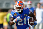 Florida Gators running back Kelvin Taylor during pre-game warm ups as the Univeristy of Florida Gators and the University of Michigan Wolverines square off in the 2016 Buffalo Wild Wings Citrus Bowl.  Orlando, Fl.  January 1st, 2015. Gator Country photo by David Bowie.