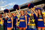 The Florida Gator cheerleaders cheer on during the second half as the Univeristy of Florida Gators and the University of Michigan Wolverines square off in the 2016 Buffalo Wild Wings Citrus Bowl.  Orlando, Fl.  January 1st, 2015. Gator Country photo by David Bowie.