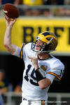 Michigan quarterback Jake Rudock throws downfield during the second half as the Univeristy of Florida Gators and the University of Michigan Wolverines square off in the 2016 Buffalo Wild Wings Citrus Bowl.  Orlando, Fl.  January 1st, 2015. Gator Country photo by David Bowie.