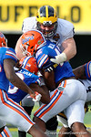 Michigan offensive lineman Graham Glasgow during the second half as the Univeristy of Florida Gators and the University of Michigan Wolverines square off in the 2016 Buffalo Wild Wings Citrus Bowl.  Orlando, Fl.  January 1st, 2015. Gator Country photo by David Bowie.