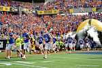 The Florida Gators take the field to square off against the Michigan Wolverines in the 2016 Buffalo Wild Wings Citrus Bowl.  Orlando, Fl.  January 1st, 2015. Gator Country photo by David Bowie.