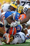 Florida Gators running back Kelvin Taylor is tackled during the second half as the Univeristy of Florida Gators and the University of Michigan Wolverines square off in the 2016 Buffalo Wild Wings Citrus Bowl.  Orlando, Fl.  January 1st, 2015. Gator Country photo by David Bowie.