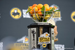 The Citrus Bowl trophy as the Michigan Wolverines celebrate their 41-7 victory over the Florida Gators in the 2016 Buffalo Wild Wings Citrus Bowl.  Orlando, Fl.  January 1st, 2015. Gator Country photo by David Bowie.