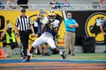 Michigan wide receiver Jehu Chesson is wide open as he makes a touchdown reception during the first half as the Univeristy of Florida Gators and the University of Michigan Wolverines square off in the 2016 Buffalo Wild Wings Citrus Bowl.  Orlando, Fl.  January 1st, 2015. Gator Country photo by David Bowie.