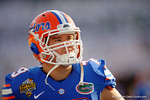 Florida Gators offensive lineman Matthew Fuchs during the second half as the Univeristy of Florida Gators and the University of Michigan Wolverines square off in the 2016 Buffalo Wild Wings Citrus Bowl.  Orlando, Fl.  January 1st, 2015. Gator Country photo by David Bowie.