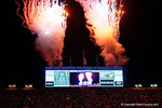 Fireworks go off as the Florida Gators go up 25-0 in the first half, as the Gators knock off the #3 ranked Ole Miss Rebels 38-10 at home.  Florida Gators vs Ole Miss Rebels.  October 3rd, 2015. Gator Country photo by David Bowie.