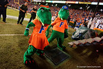 Albert and Alberta dance for the crowd during the second half, as the Gators knock off the #3 ranked Ole Miss Rebels 38-10 at home.  Florida Gators vs Ole Miss Rebels.  October 3rd, 2015. Gator Country photo by David Bowie.