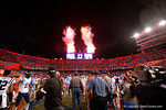 Fireworks go off as the Gators knock off the #3 ranked Ole Miss Rebels.  Florida Gators vs Ole Miss Rebels.  October 3rd, 2015. Gator Country photo by David Bowie.