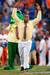 Former Florida Gator and current New England Patriot Dominique Easley is the honorary Mr. Two Bits as the Gators knock off the #3 ranked Ole Miss Rebels 38-10 at home.  Florida Gators vs Ole Miss Rebels.  October 3rd, 2015. Gator Country photo by David Bowie.