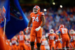 Florida Gators offensive lineman Fred Johnson takes the field, as the Gators knock off the #3 ranked Ole Miss Rebels 38-10 at home.  Florida Gators vs Ole Miss Rebels.  October 3rd, 2015. Gator Country photo by David Bowie.