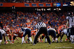 Florida Gators kicker Jorge Powell lines up and kicks in a field goal in the second half to put the Gators up 28-0, as the Gators knock off the #3 ranked Ole Miss Rebels 38-10 at home.  Florida Gators vs Ole Miss Rebels.  October 3rd, 2015. Gator Country photo by David Bowie.