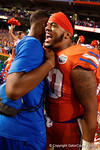 Florida Gators defensive lineman Jonathan Bullard celebrates the win over the #3 ranked Ole Miss Rebels 38-10 at home.  Florida Gators vs Ole Miss Rebels.  October 3rd, 2015. Gator Country photo by David Bowie.