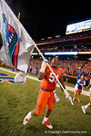 Florida Gators offensive line Antonio Riles celebrates the win over the #3 ranked Ole Miss Rebels 38-10 at home.  Florida Gators vs Ole Miss Rebels.  October 3rd, 2015. Gator Country photo by David Bowie.
