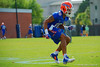 Florida Gators wide receiver Valdez Showers running during a practice drill.  Florida Gators Spring Practice.  March 18th, 2016. Gator Country photo by David Bowie.