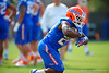 Florida Gators running back Adam Lane Jr. rushing during a spring practice drill.  Florida Gators Spring Practice.  March 18th, 2016. Gator Country photo by David Bowie.