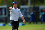 Florida Gators defensive backs coach Kirk Callahan coaches up his defensive backs.  Florida Gators Spring Practice.  March 18th, 2016. Gator Country photo by David Bowie.