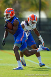 Florida Gators wide receiver Ahmad Fulwood rushes downfield during a practice drill.  Florida Gators Spring Practice.  March 18th, 2016. Gator Country photo by David Bowie.