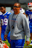 Florida Gators wide receivers coach Kerry Dixon II walks toward the practice field.  Florida Gators Spring Practice.  March 18th, 2016. Gator Country photo by David Bowie.