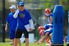 Florida Gators offensive coordinator and quarterbacks coach Doug Nussmeier during practice.  Florida Gators Spring Practice.  March 18th, 2016. Gator Country photo by David Bowie.