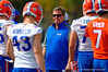 Florida Gators head coach Jim McElwain gets his team together as the Gators continue spring practice.  Florida Gators Spring Practice.  March 18th, 2016. Gator Country photo by David Bowie.