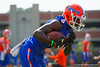 Florida Gators wide receiver Ahmad Fulwood rushes with the ball after making a catch during a passing drill.  Florida Gators Spring Practice.  March 18th, 2016. Gator Country photo by David Bowie.