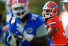 Florida Gators quarterback Treon Harris drops back to throw during a practice drill.  Florida Gators Spring Practice.  March 18th, 2016. Gator Country photo by David Bowie.
