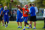 Florida Gators quarterback Treon Harris throws downfield during a passing drill.  Florida Gators Spring Practice.  March 18th, 2016. Gator Country photo by David Bowie.