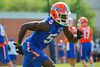 Florida Gators wide receiver Ahmad Fulwood sprints downfield during a passing drill.  Florida Gators Spring Practice.  March 18th, 2016. Gator Country photo by David Bowie.