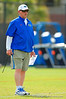 Florida Gators offensive line coach Mike Summers works with the offensive line during spring practice.  Florida Gators Spring Practice.  March 18th, 2016. Gator Country photo by David Bowie.