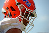 Florida Gators defensive back Vernon Hargreaves, III rests before going to the next drill.  Florida Gators Spring Practice.  March 18th, 2016. Gator Country photo by David Bowie.
