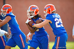 Florida Gators wide receiver Chris Thompson rushes with the ball during a fumble drill.  Florida Gators Spring Practice.  March 18th, 2016. Gator Country photo by David Bowie.