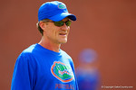 Florida Gators offensive coordinator and quarterbacks coach Doug Nussmeier, watches on as spring practice continues.  Florida Gators Spring Practice.  March 18th, 2016. Gator Country photo by David Bowie.