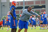 Florida Gators wide receivers coach Kerry Dixon II works with Florida Gators wide receiver Ahmad Fulwood.  Florida Gators Spring Practice.  March 18th, 2016. Gator Country photo by David Bowie.