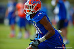 Florida Gators wide receiver Demarcus Robinson sprints downfield during a passing drill.  Florida Gators Spring Practice.  March 18th, 2016. Gator Country photo by David Bowie.