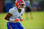 Florida Gators defensive back Vernon Hargreaves, III drops back into coverage during a passing drill.  Florida Gators Spring Practice.  March 18th, 2016. Gator Country photo by David Bowie.