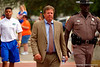 Florida Gators head coach Jim McElwain into Ben Hill Griffin Stadium during Gator Walk.  2015 Orange and Blue Debut. April 11th 2015. Gator Country photo by David Bowie.