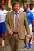 Florida Gators head coach Jim McElwain walks down University Avenue toward Ben Hill Griffin Stadium during Gator Walk.  2015 Orange and Blue Debut. April 11th 2015. Gator Country photo by David Bowie.