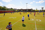 The Florida Gators continue football spring practices running drills and scrimmaging.  Florida Gators Football Spring Practice.  March 25th, 2016. Gator Country photo by David Bowie.