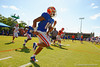 Florida Gators wide receiver Valdez Showers and the Gators warm up during football spring practice.  Florida Gators Football Spring Practice.  March 25th, 2016. Gator Country photo by David Bowie.