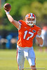 Florida Gators quarterback Anderson Proctor throwing during football spring practice.  Florida Gators Football Spring Practice.  March 25th, 2016. Gator Country photo by David Bowie.