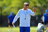 Florida Gators offensive coordinator and quarterbacks coach Doug Nussmeier during football spring practice.  Florida Gators Football Spring Practice.  March 25th, 2016. Gator Country photo by David Bowie.