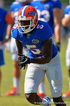 Florida Gators wide receiver Ahmad Fulwood sprintz downfield during football spring practice.  Florida Gators Football Spring Practice.  March 25th, 2016. Gator Country photo by David Bowie.