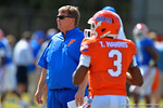 Florida Gators head coach Jim McElwain watches on as the Gators continue spring practices.  Florida Gators Football Spring Practice.  March 25th, 2016. Gator Country photo by David Bowie.