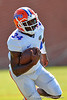 Florida Gators defensive back Brian Poole picks off a pass during football spring practice.  Florida Gators Football Spring Practice.  March 25th, 2016. Gator Country photo by David Bowie.
