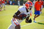Florida Gators wide receiver Latroy Pittman makes the catch, turns and sprints downfield during a receiving drill.  Florida Gators Football Sixth Spring Practice.  March 25th, 2016. Gator Country photo by David Bowie.