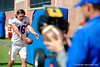 Florida Gators kicker Austin Hardin and the kickers warm up along the sideline catching footballs.  Florida Gators Football Sixth Spring Practice.  March 25th, 2016. Gator Country photo by David Bowie.