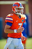 Florida Gators quarterback Will Grier stretching out before the drills begin for practice.  Florida Gators Football Sixth Spring Practice.  March 25th, 2016. Gator Country photo by David Bowie.