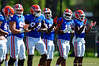 The Gators warm up and stretch out prior to running drills.  Florida Gators Football Sixth Spring Practice.  March 25th, 2016. Gator Country photo by David Bowie.